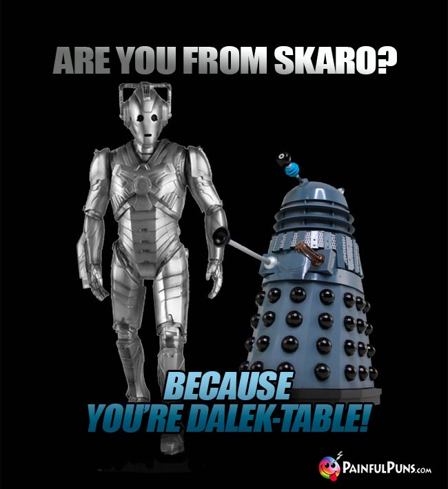 Are you from Skaro? Because you're Dalek-table!