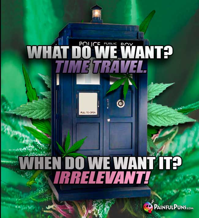 What do we want? Time travel. When do we want it? irrelevant!