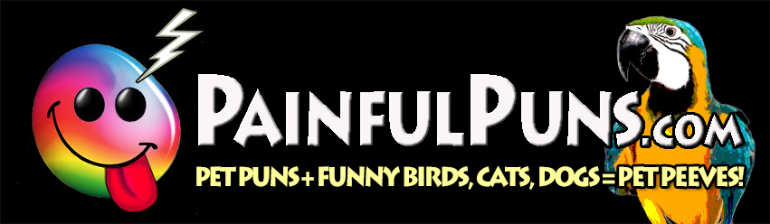 PainfulPuns.com - Pet Puns + Funny Birds, Cats, Dogs = Pet Peeves