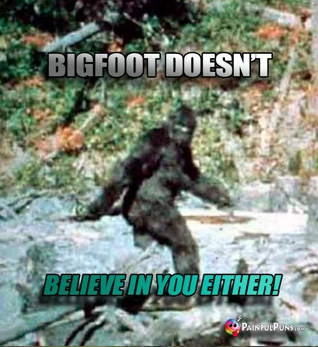 Bigfoot doesn't believe in you either!
