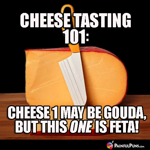 Cheese Tasting 101: Cheese 1 may be gouda, but this one is feta!