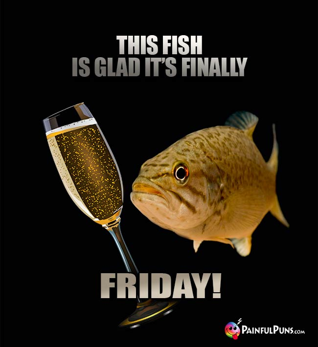 This fish is glad it's finally Friday!