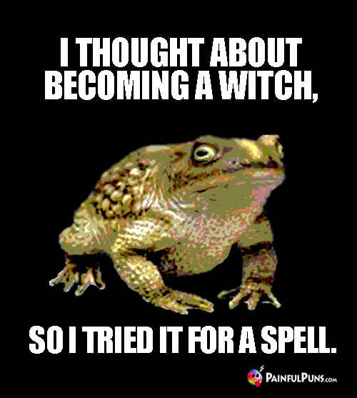 Hellish Humor: I thought about becoming a witch, so I tried it for a spell.
