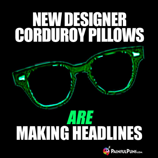 New Designer Corduroy Pillows ARE Making Headlines
