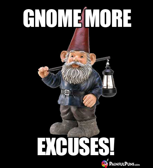 Gnome More Excuses