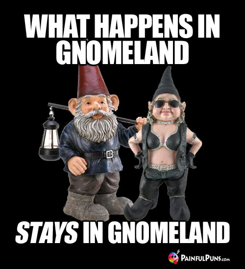What happens in Gnomeland stays in Gnomeland