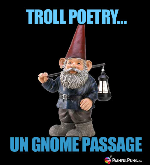 Troll Poetry... Un Gnome Passage