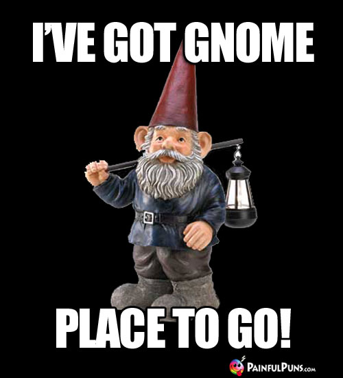 I've Got Gnome Place to Go!
