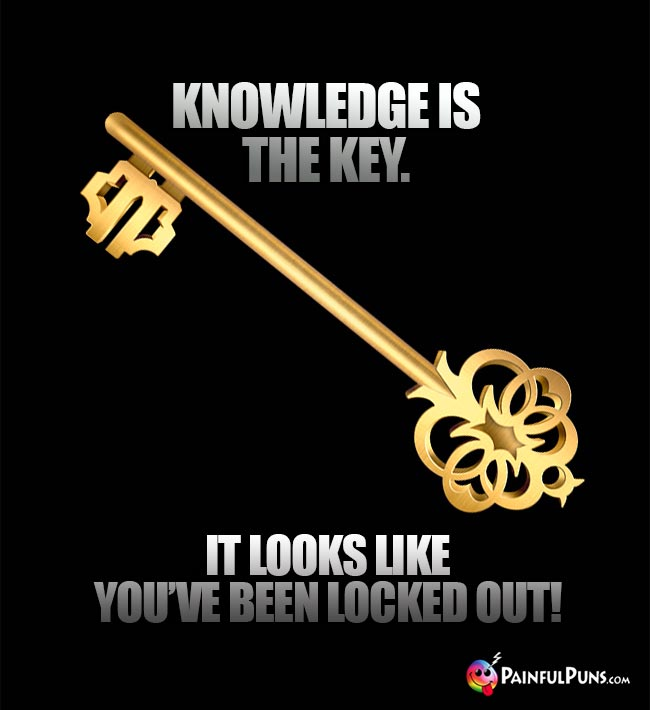 Knowledge is the Key. It looks like you've been locked out!