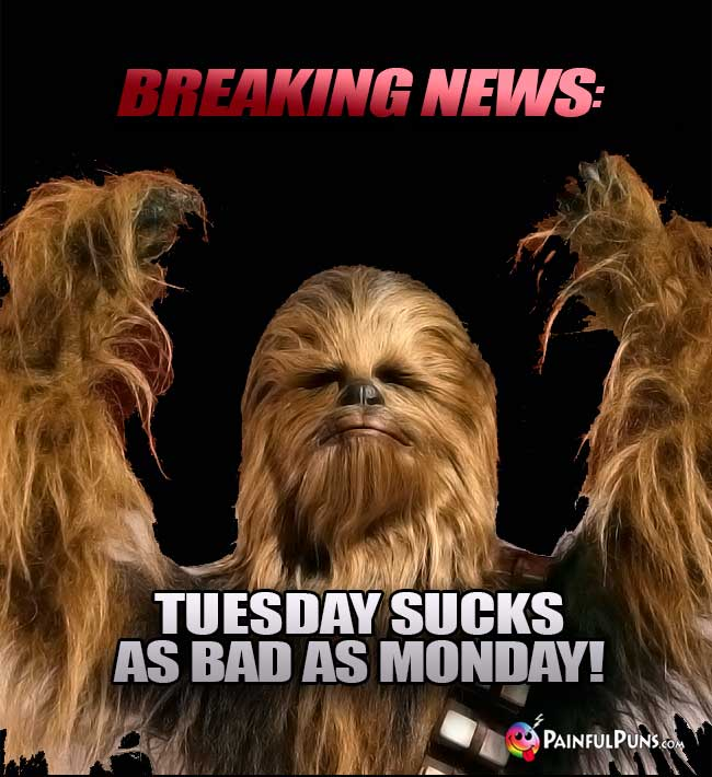 Breaking News: Tuesday Sucks As Bad As Monday!