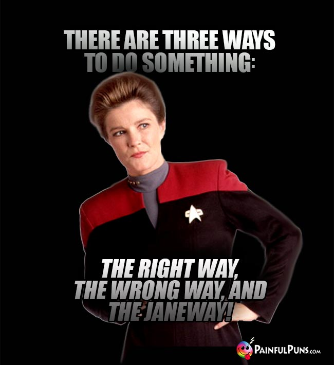 There are three ways to do something: The right way, the wrong way, and the Janeway!