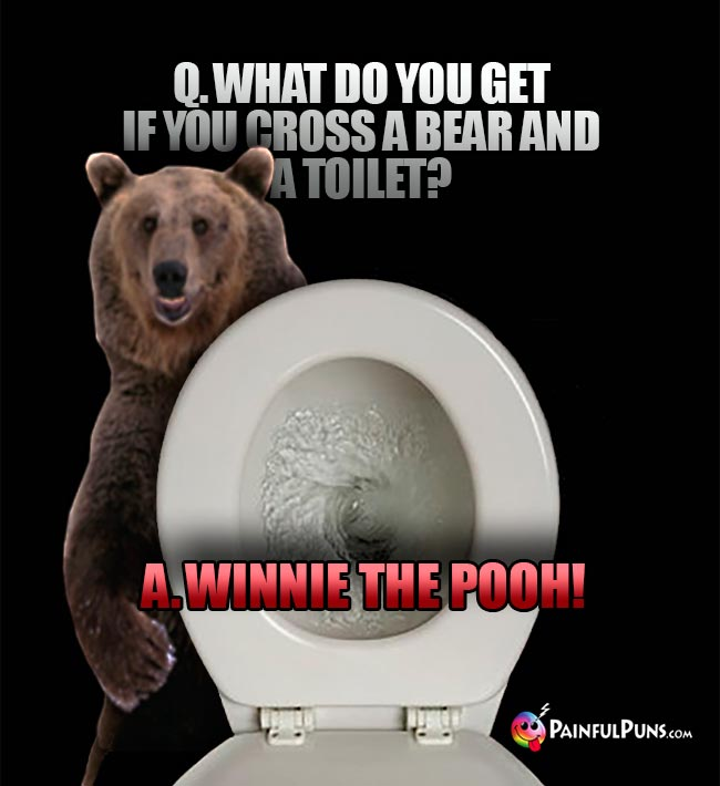Q. What do you get if you cross a bear and a toilet? A. Winnie the Pooh!