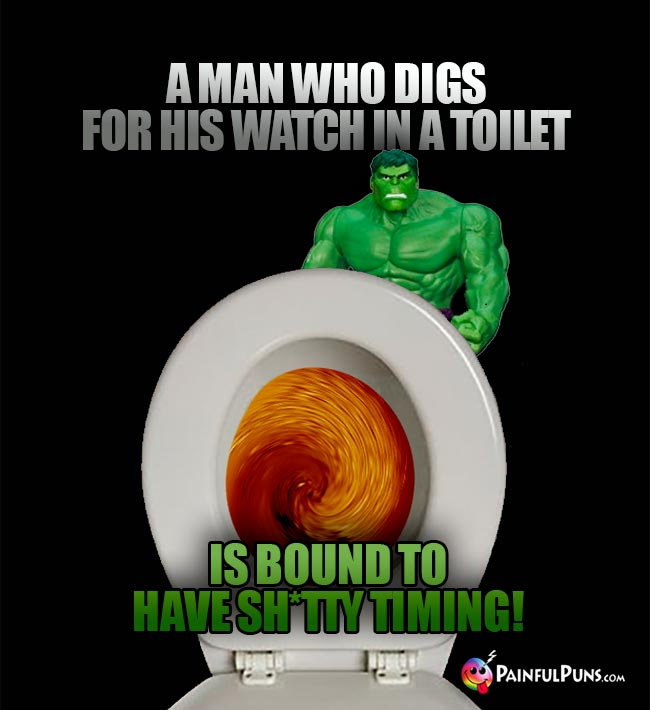 A man who digs for his watch in a toilet is bound to have sh*tty timing!